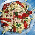 Frisée au thon,artichaux,tomates séchées