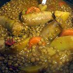 """recette """" Lentilles aux saucisses sans oignons...."""""""