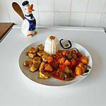 recette Poulet sucré salé aux épices.