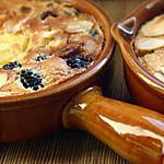 recette Mini clafoutis mures sauvages, ananas et amandes