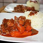 recette Ragoût de porc à l'indienne