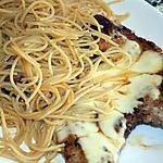 recette Côtelette de porc et spaghetti façon Mamyloula