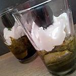 recette Verrines méditerranéenne courgettes pesto et chévre