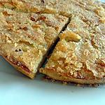 recette Tarte  pomme , crème vanille et crumble canelle