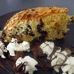 """recette """" Gâteau pépites de chocolat...amandes...garni de Nutella et Chantilly...."""""""