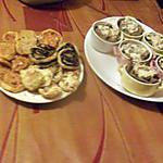 recette plateau   aperitif   avec galettes  de blé noir aux fruits de mer