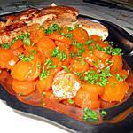 recette Saumon royal grillé et carottes glacées au miel