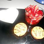 recette Plateau dessert saint valentin