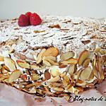 recette Framboisier à la crème de caranougat