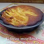 recette Gâteau moelleux aux pommes & épices
