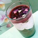 recette Panna cotta à la framboise et nutella