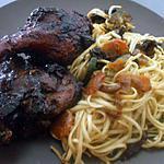recette Cuisses de Canard laqué ...  nouilles asiatiques....