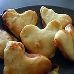 """recette """" Friands en coeurs faits avec restes de pâte de la pizza express au thon...)"""