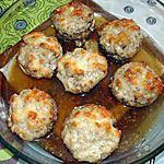 Champignons farcis au boursin ail et fines herbes