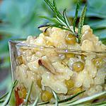 recette Risotto aux champignons de Paris et petits pois