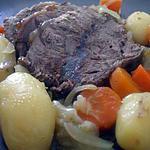 """recette """" Rôti de veau light en cocotte... aux petits légumes... cuit au four..."""""""