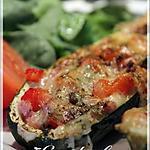 recette ~Courgettes farcies au jambon~