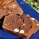 recette Cake au chocolat et noisettes