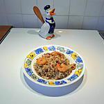 recette Risotto aux petites crevettes grises.