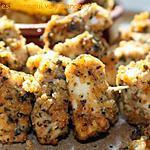 recette Dés de poulet panés, sans gluten et sans lactose