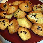 recette madeleine aux pépites de chocolat