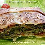 recette Strudel au thon et légumes