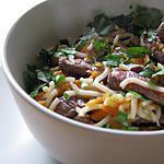 recette Boeuf sauté gingembre, citron vert et feuilles de coriandre