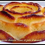 recette gateau chocolat blanc et pate d'amande