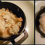 recette Cassolette de poisson et crevettes à la crème