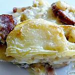recette Tartiflette àa la saucisse de Montbéliard