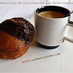 recette Gâteaux noix de coco-chocolat à la farine complète