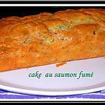 recette cake au saumon fumé