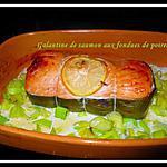 recette Galantine de saumon aux fondues de poireaux