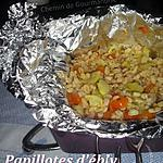recette Papillotes d'ébly aux 2 légumes