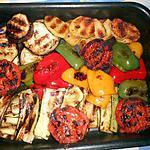 recette Plat de légumes grillés