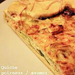 recette Quiche poireaux saumon