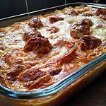 recette Lasagnes aux boulettes de viande