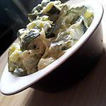 recette Fondue de courgettes au boursin