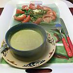 recette potage aux carottes   de campanule,,,et assiette épinards thon      ,