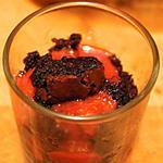 Verrine chocolat framboise selon Nono