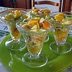 recette Coupes de fruits frais par ma petite fille