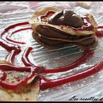 recette Millefeuille chocolat & coulis framboise