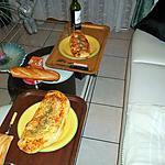 pizza blanc de poulet ,jambon blanc et fumee