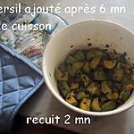 recette Dés de courgettes à la Kapiluka