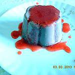 recette PANNA COTTA AU COULIS DE FRUITS ROUGE