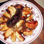 recette Boudin noir aux pommes et raisins