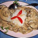 recette Darnes de lieu jaune sauce champignons