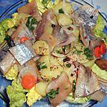 recette Salade de pommes de terre aux harengs fumés