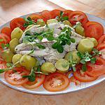 recette merlu en  salade avec ses petites pomme de terre ratte