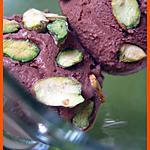 recette GLACE AU CHOCOLAT ET  ECLATS DE PISTACHE